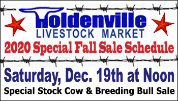 SS-Holdenville Livestock Market Fall Sale Schedule-12-19-2020